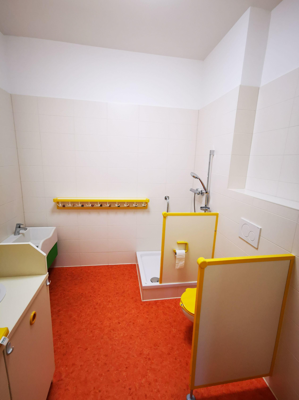 Sanitärbereich bei der Lernwerkstatt